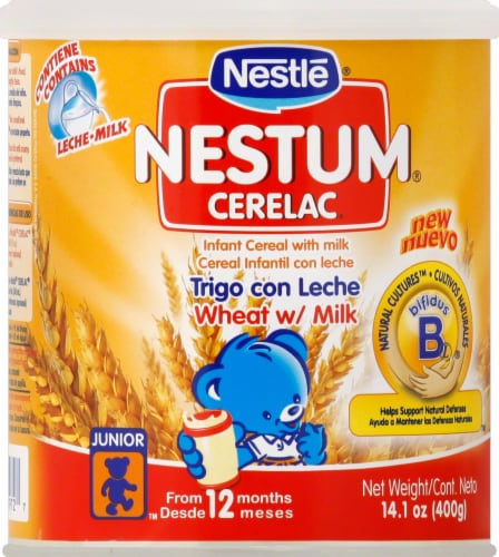 Nestle Nestum Cerelac Wheat with Milk Infant Cereal Perspective: front