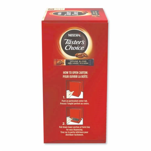Tasters Choice Instant Coffee - 80 single serve sticks per box, 6 boxes per case Perspective: front