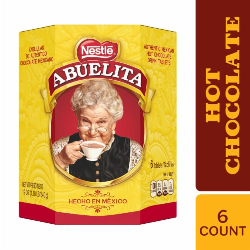 Nestle Abuelita Authentic Mexican Hot Chocolate Drink Tablets Perspective: front