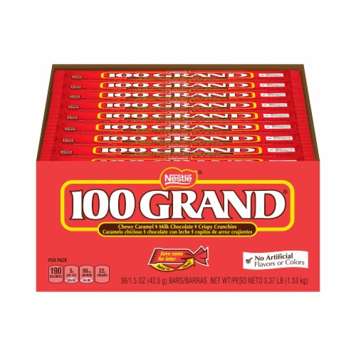 100 Grand Milk Chocolate Candy Bars Perspective: front
