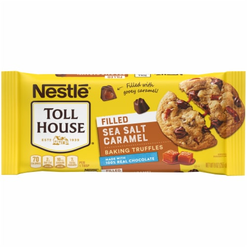 Nestle Toll House Sea Salt Caramel Filled Baking Truffles Perspective: front