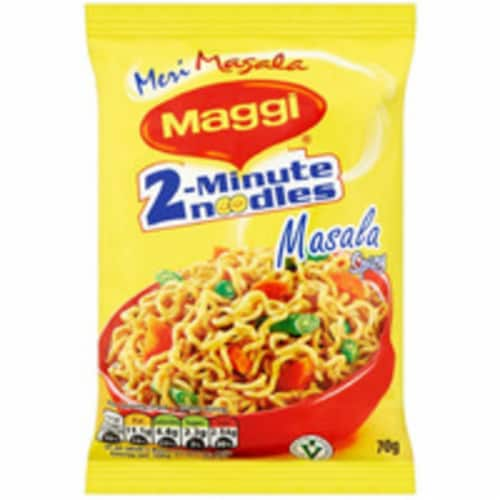 Maggi Masala Spicy Noodles Perspective: front