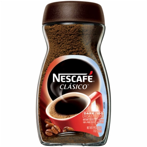 Nescafe Clasico Instant Coffee, 7 Ounce -- 6 per case. Perspective: front