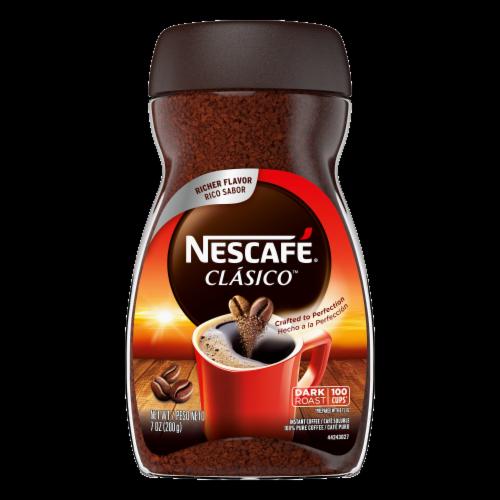 Kroger Nescafe Clasico Dark Roast Instant Coffee 7 Oz