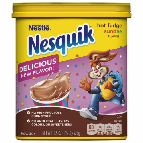 Nesquik® Hot Fudge Sundae Powdered Drink Mix Perspective: front