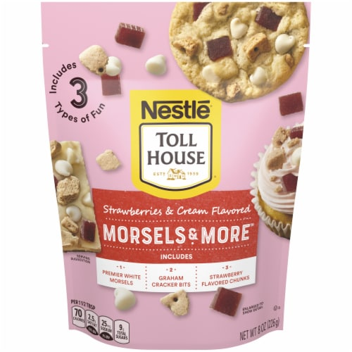 Nestle Toll House Morsels and More Strawberries & Cream Morsel Mix Perspective: front