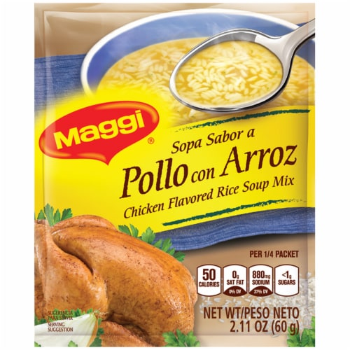 Maggi Chicken Flavor Rice Soup Mix Perspective: front