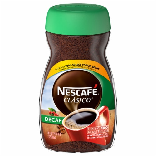 Nescafe Clasico Decaf Dark Roast Instant Coffee Perspective: front