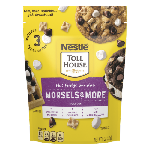 Nestle Toll House Hot Fudge Sundae Morsels & More Perspective: front