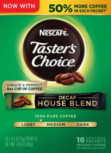 Nescafe Taster's Choice Decaf House Blend Instant Coffee Packets Perspective: front