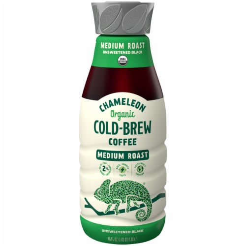 Chameleon Cold-Brew Organic Medium Roast Unsweetened Black Cold Brew Coffee Perspective: front