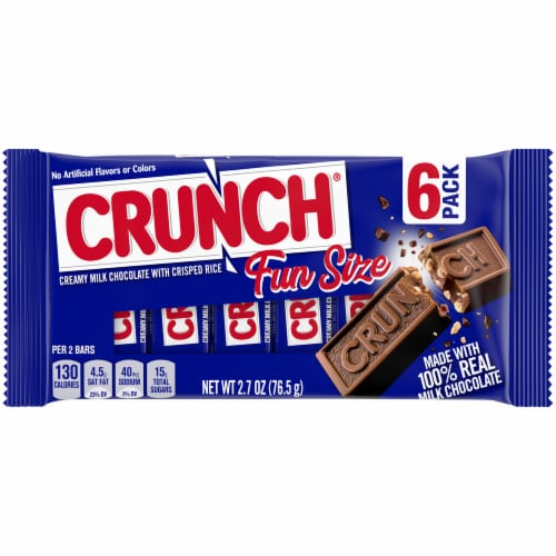 Nestle Crunch Fun Size Candy Bars Perspective: front