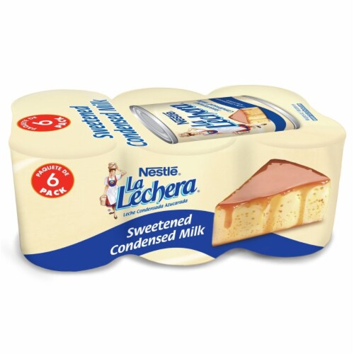 La Lechera Sweetened Condensed Milk - 14 Ounce cans - 6 Pack Perspective: front
