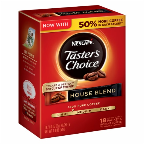 Nescafe Taster's Choice House Blend Instant Coffee Packets Perspective: front