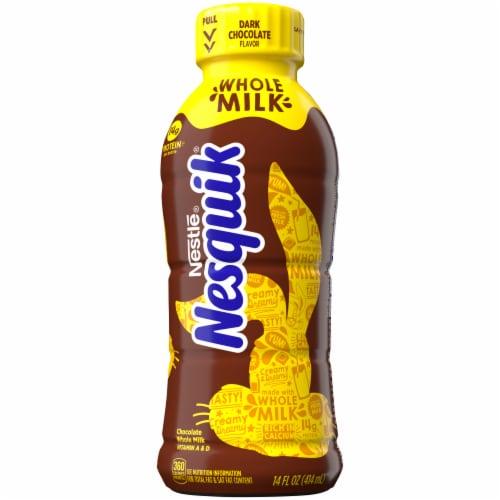 Nesquik Dark Chocolate Whole Milk Perspective: front