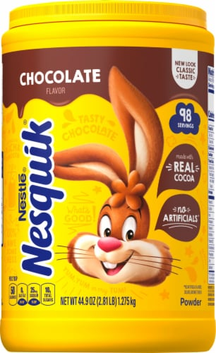 Nesquik Chocolate Powder Drink Mix Perspective: front