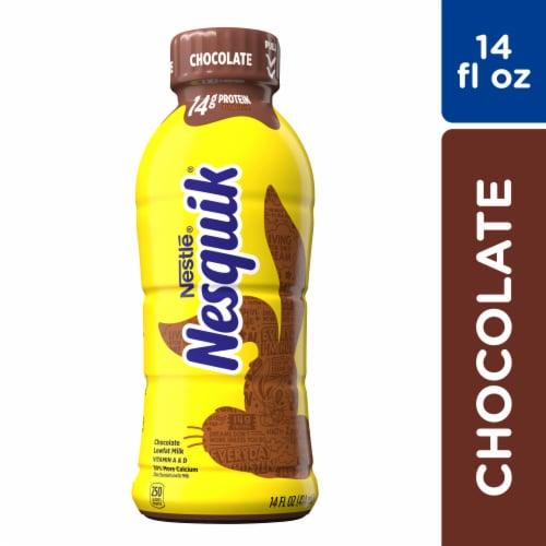 Nesquik Chocolate Flavored Low Fat Milk Perspective: front