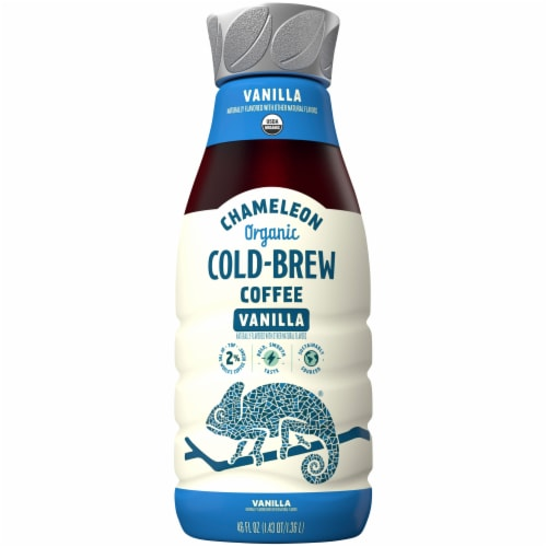Chameleon Organic Vanilla Cold-Brew Coffee Perspective: front