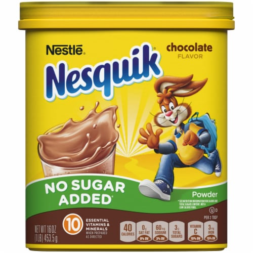 Nesquik No Sugar Added Chocolate Flavored Powder Mix Perspective: front