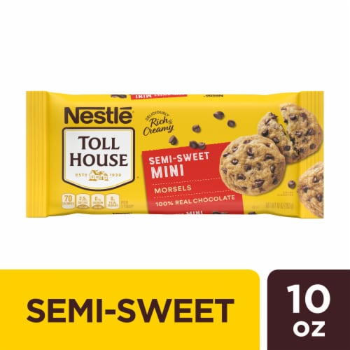 Nestle Toll House Semi Sweet Chocolate Mini Chips Perspective: front