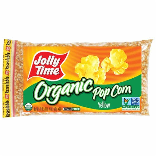 Jolly Time Yellow Organic Popcorn Kernels Perspective: front