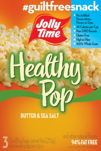 Jolly Time® Healthy Pop Butter & Sea Salt Microwave Popcorn Perspective: front