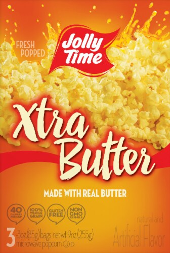 Jolly Time Extra Butter Popcorn Perspective: front