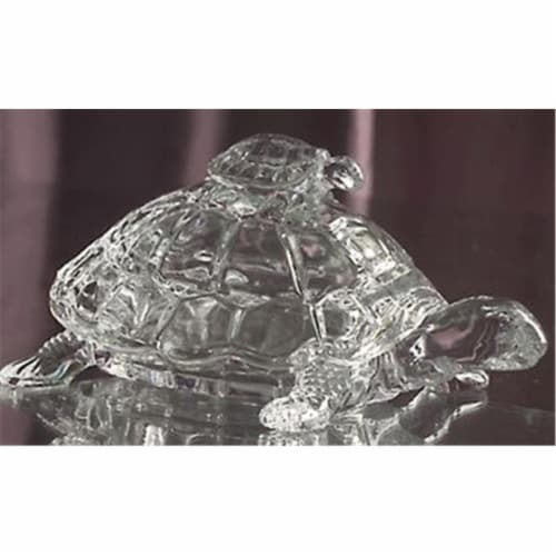 Godinger Crystal Turtle Candy Box Perspective: front