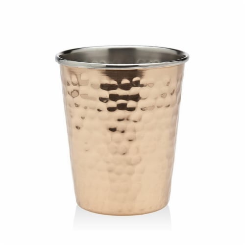 Godinger Julep Hammered Cup, Copper Mint Perspective: front