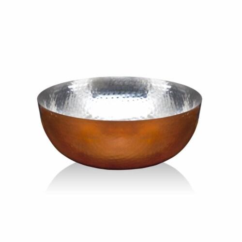 Godinger 19463 Hammered Salad Bowl, Copper Perspective: front