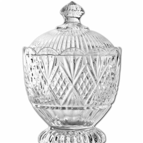 Godinger 25933 Dublin Crystal Covered Box Perspective: front