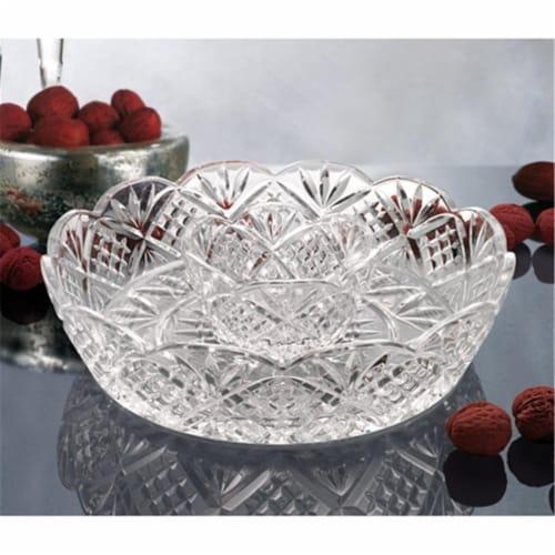 Godinger 25951 Dublin Large Crystal Chip and Dip Bowl Perspective: front