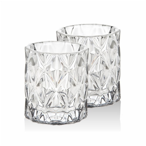 Godinger 28649 Serenade Votive Glass - Clear, Set of 2 Perspective: front