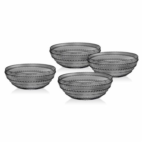 Godinger 48108 Lumina Smoke Soup Bowls - Set of 4 Perspective: front
