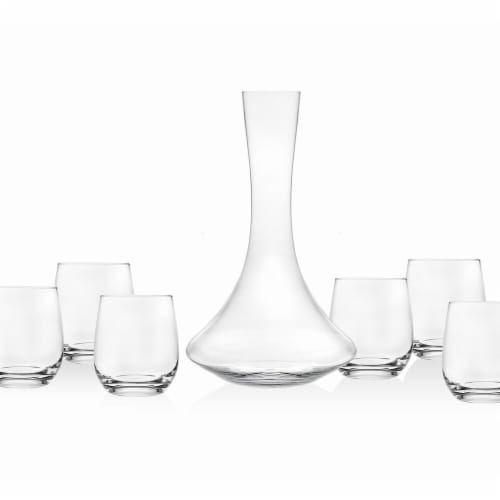 Godinger Echo Seven Piece Wine Set Perspective: front