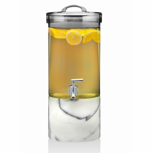 Godinger 5 qt Marble Base Glass Dispenser Perspective: front