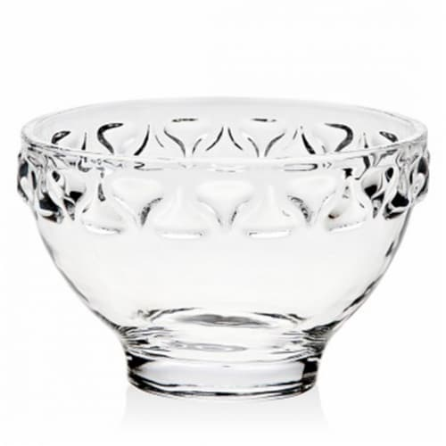 Godinger 64694 Kisses Banded Candy Bowl - 6 in. Perspective: front