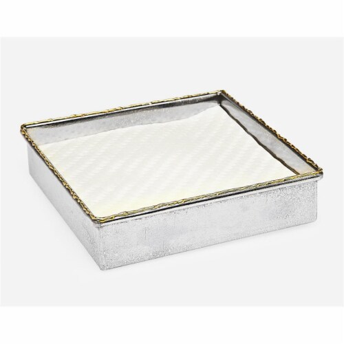 Godinger 84118 Golden Frost Square Napkin Holder Perspective: front