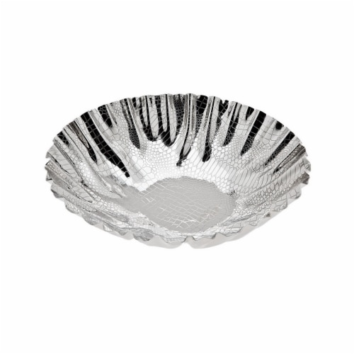 Godinger 94512 Croco Scalloped Bowl Perspective: front