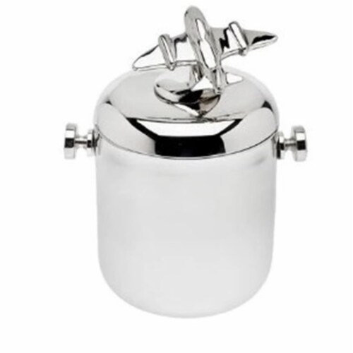 Godinger 60 oz Airplane Ice Bucket Perspective: front