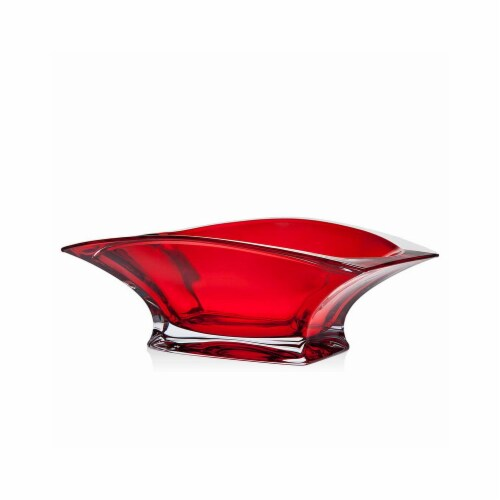 Godinger 99272 12 in. Luna Red Bowl Perspective: front