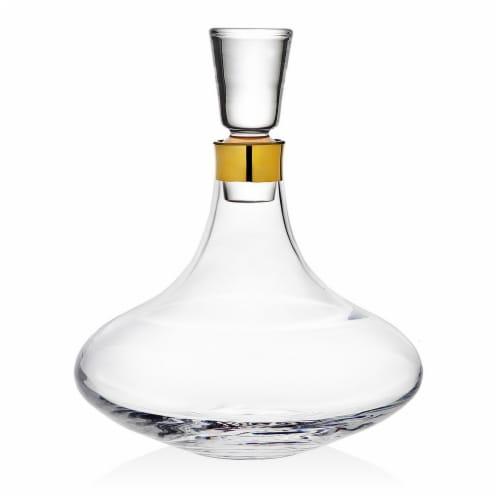 Godinger 99543 1500 ml Molten Gold Brandy Decanter Perspective: front