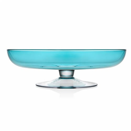 Godinger 99957 14 in. Rondo Sea Blue Bowl Perspective: front