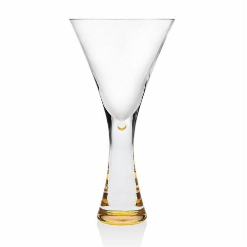 Godinger 9 oz Finley Gold Goblet - Set of 2 Perspective: front