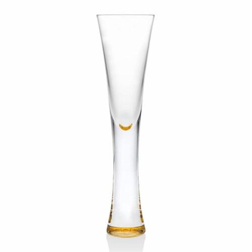 Godinger 99995 5 oz Finley Gold Champagne Flutes - Set of 2 Perspective: front