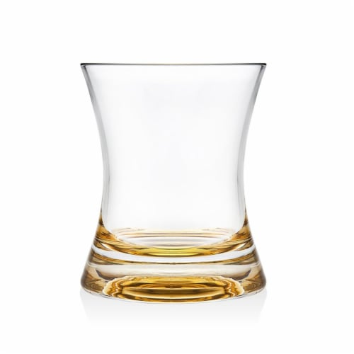 Godinger 7 oz Finley Gold Tumblers - Set of 4 Perspective: front
