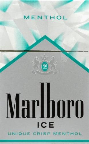 Marlboro Ice Unique Crisp Menthol Cigarettes Perspective: front