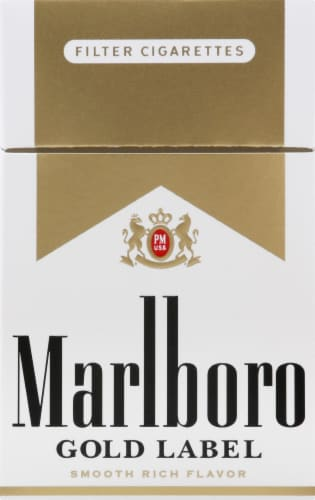 Marlboro Gold Label Cigarettes Perspective: front