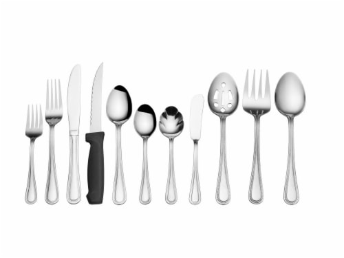 Pfaltzgraff Stainless Steel Flatware 80 Pack - Pearl Perspective: front