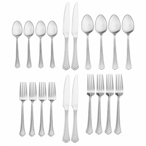 Pfalzgraff Capri Frost Everyday Flatware Set - Stainless Steel Perspective: front
